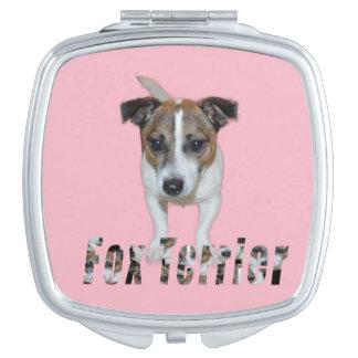 Fox-terrier en het Logo van de Fox-terrier, Handtas Spiegeltje