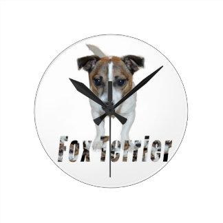 Fox-terrier en het Logo van de Fox-terrier, Ronde Klok