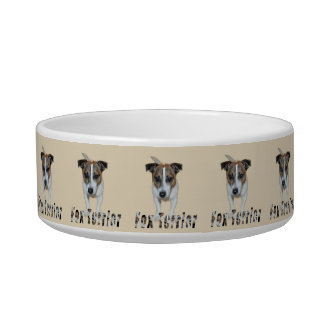 Fox-terrier en het Logo van de Fox-terrier, Voerbakje