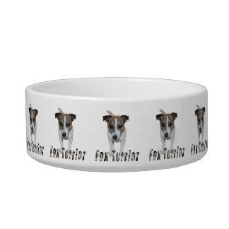 Fox-terrier en het Logo van de Fox-terrier, Witte Voerbakje