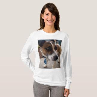 Fox-terrier, T-shirt van het Sleeve van de Dames