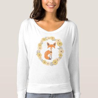 Foxy Bloemen Lange T-shirt van de Lont van het
