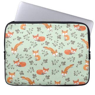 Foxy BloemenLaptop Sleeve Laptop Hoesje