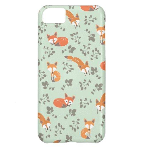 Foxy BloemenPatroon iPhone 5C Hoesje