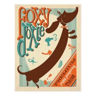 Foxy Doxie Briefkaart