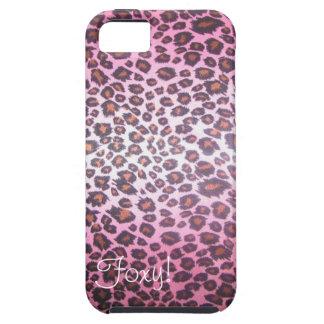 Foxy! iPhone 5 van de Druk van de jachtluipaard ho Tough iPhone 5 Hoesje