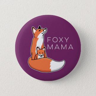 Foxy Rode Vos van Mamma's met Jong Ronde Button 5,7 Cm