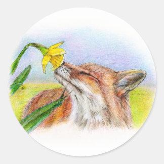 Foxy Ronde Sticker
