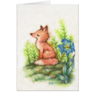 Foxy voelen - de Leuke Kaart van de Kunst van de