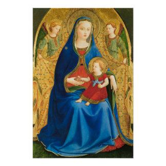 Fra Angelico Virgin met granaatappel CC0845 Poster