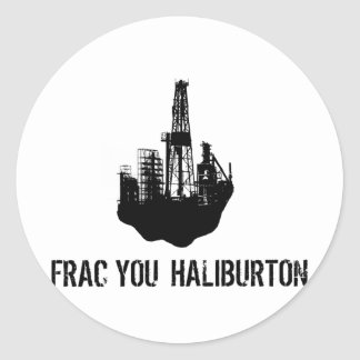 frac u Haliburton Ronde Sticker