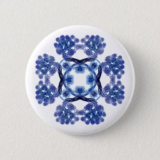 Fractal 8-patroon Speld Ronde Button 5,7 Cm