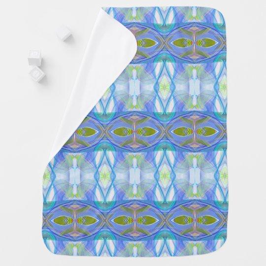fractal blauw etnisch patroon baby dekentjes