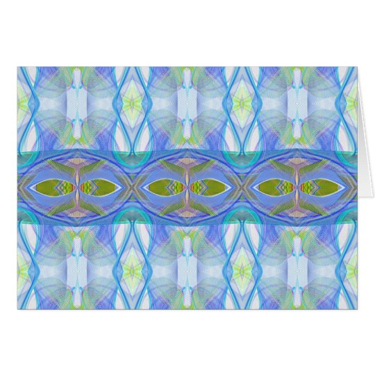 fractal blauw etnisch patroon kaart