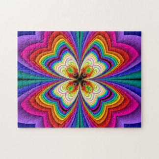 Fractal de Regenboog van de Vlinder Puzzel