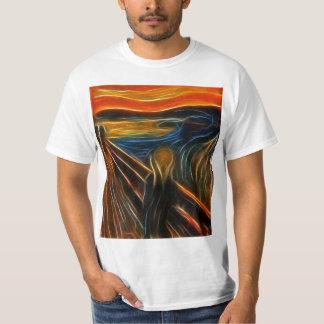 Fractal die van de Schreeuw Edvard schilderen T Shirt