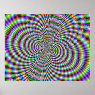 Fractal Optische illusie 2 Poster