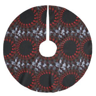 Fractal Rood Zwart Wit Kerstboom Rok