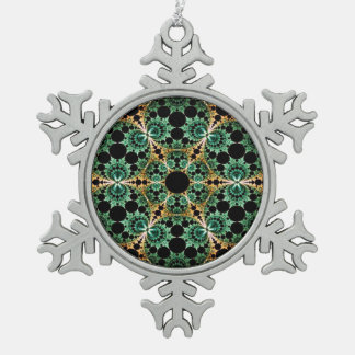 Fractal Tin Sneeuwvlok Ornament