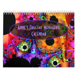 Fractal van Anne de Kalender van de Menagerie