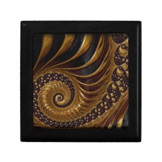 Fractal van de chocolade decoratiedoosje