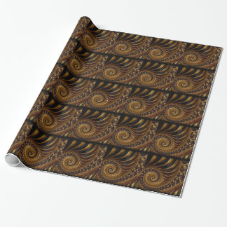 Fractal van de chocolade inpakpapier