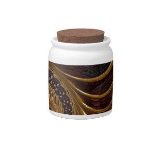 Fractal van de chocolade porseleinen snoeppot