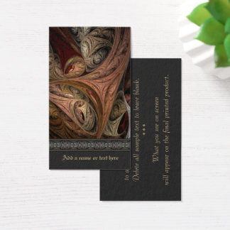 Fractal van de Draai van het kruid Art. Visitekaartjes