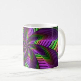 Fractal van de Flits van de Kleuren van het neon Koffiemok