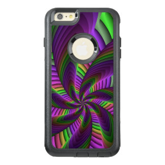 Fractal van de Flits van de Kleuren van het neon OtterBox iPhone 6/6s Plus Hoesje