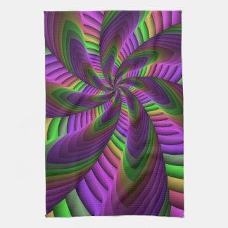 Fractal van de Flits van de Kleuren van het neon Theedoek