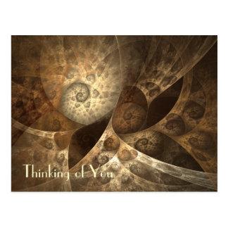 Fractal van de kaneel & van de Gember Art. Briefkaart