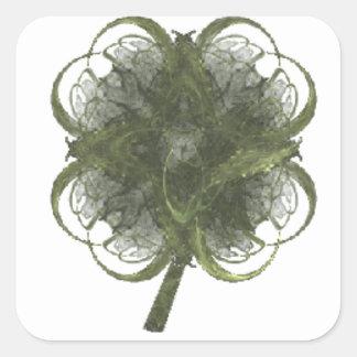 Fractal van de Klaver van vier Blad Kunst met Stam Stickers