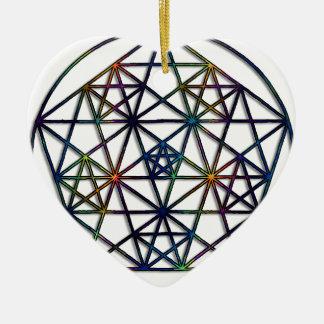 Fractal van de Meetkunde van de overvloed Heilige Keramisch Hart Ornament