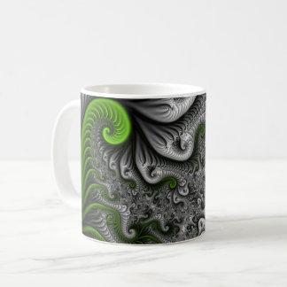 Fractal van de Wereld van de fantasie Groen en Koffiemok