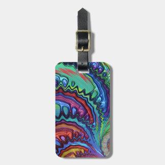 Fractal van de Werveling van de regenboog Kofferlabel