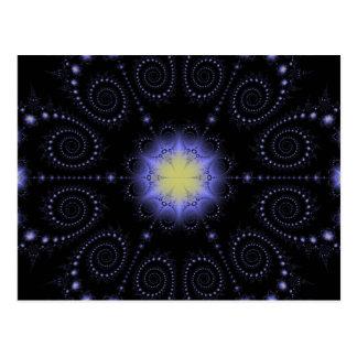 Fractal van de Zonnestilstand van de winter Briefkaart