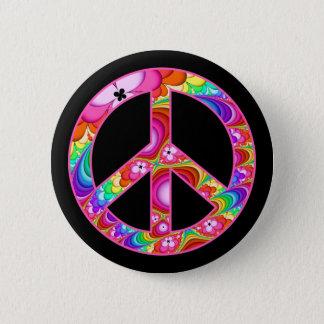 Fractal van het Teken van de vrede Hip Reis Ronde Button 5,7 Cm