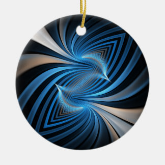 Fractal van sialia rond keramisch ornament
