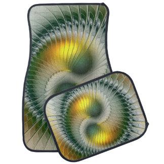 Fractal van Yang van Yin Groene Gele Abstracte Automat