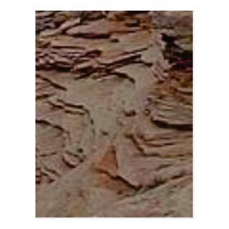fragmenten spaanders in rots briefkaart