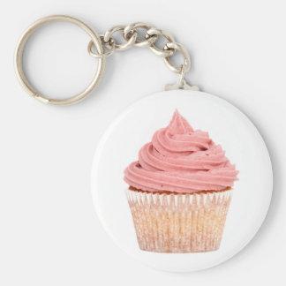 Framboos cupcake sleutelhanger