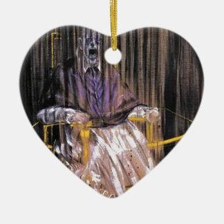Francis Bacon - Gillende Pausen Keramisch Hart Ornament