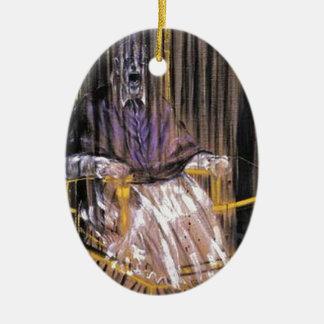 Francis Bacon - Gillende Pausen Keramisch Ovaal Ornament
