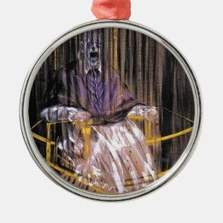 Francis Bacon - Gillende Pausen Zilverkleurig Rond Ornament