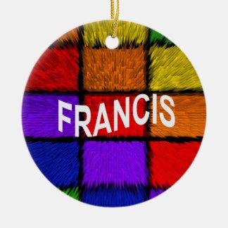 FRANCIS ROND KERAMISCH ORNAMENT