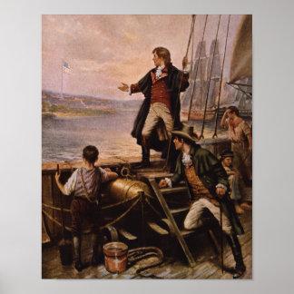 Francis Scott Key - Schilderen van de Banner van Poster