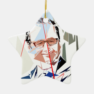 François Hollande Keramisch Ster Ornament