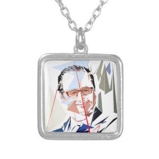 François Hollande Ketting Vierkant Hangertje