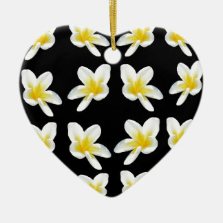 Frangipani_Flower_Sensation, _ Keramisch Hart Ornament